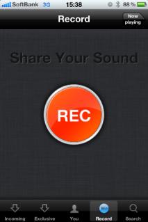 [REC]をタップするだけですぐ録音開始