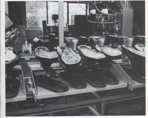 Schuhe in der Produktion