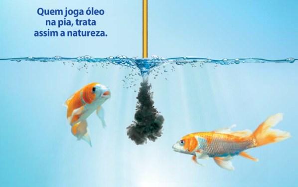 Não jogue óleo na água!