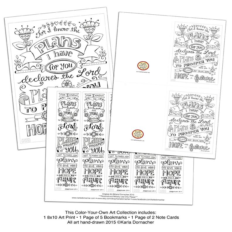 Jeremiah 29:11 • Bible Journaling Bookmark • Card • Print