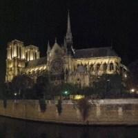 Notre Dame on her Île de la Cité at night