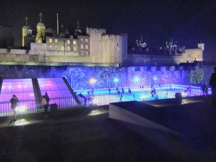 The London Tower and Christmas ice rink
