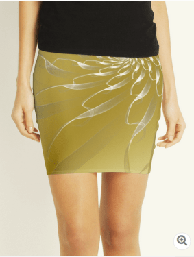 gold lace skirt front
