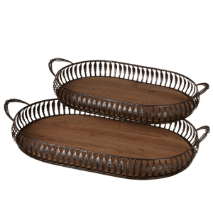 Bronze Oval Trays