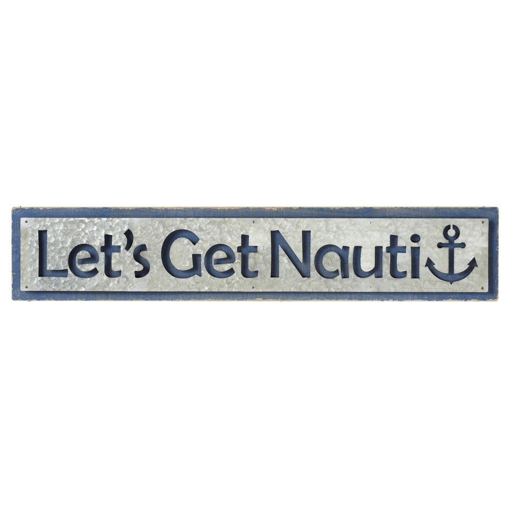 Lets Get Nauti Beach Sign