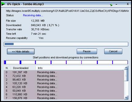Proses Download dengan IDM