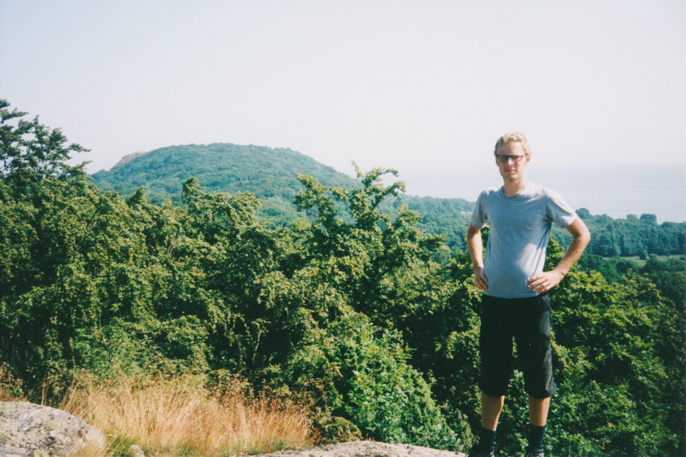 Me in front of the hill called Stenshuvud – stone head.