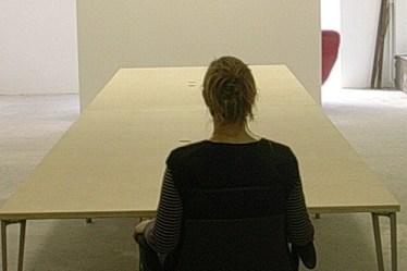 (c) Karl Baumann 2007: Tisch im Büro, Krems an der Donau im Januar