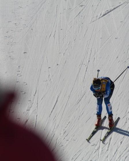 (c) Karl Baumann 2019: Die Läuferin, Seefeld in Tirol im Februar 2019, Samsung NX20