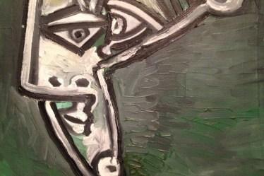 (c) Karl Baumann 2012: Pablo Picasso - Téte de femme 1952, Mannheim im April, iPhone 4S