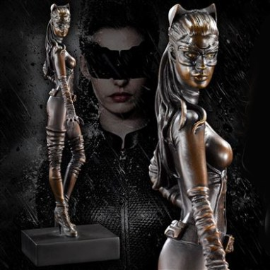 Solid Bronze Catwoman Statue by the Noble Collection