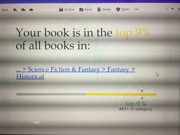 Dark Awakening Makes the Top 9% in Book Sales