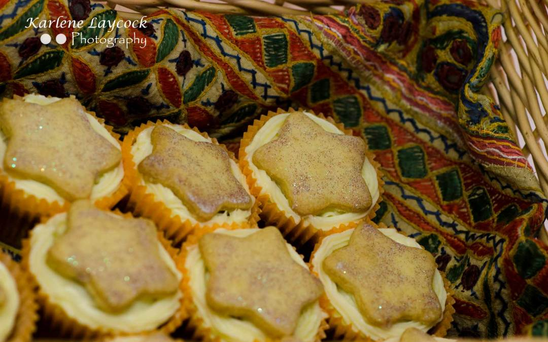 Photograph of a Basket of Cupcakes taken at a Local Bake Off Event