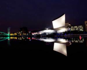 Salford Quays at Night Extended