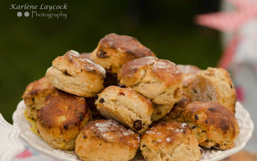Bake Off Scones Displayed on a White Plate