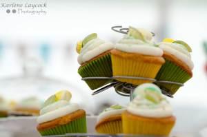 Bake Off Lemon & Lime Cupcakes on 2 Tiers