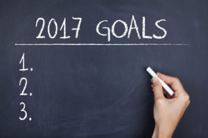 Goals for 2017 / New year plans aspirations resolutions concept