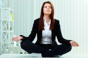 meditate in the office