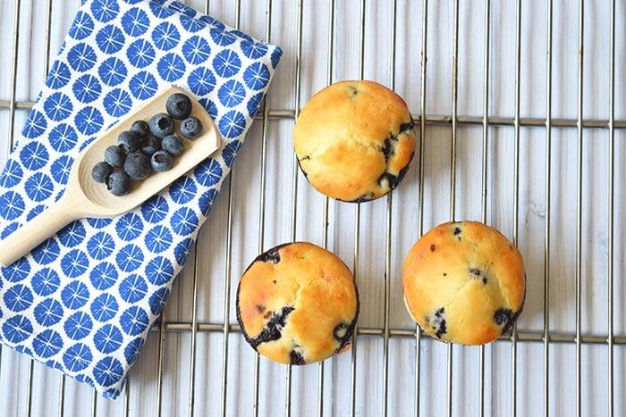 Healthy Lemon Blueberry Muffins - Karlijnskitchen.com