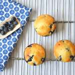 Gezonde blueberry muffins met citroen (low FODMAP)