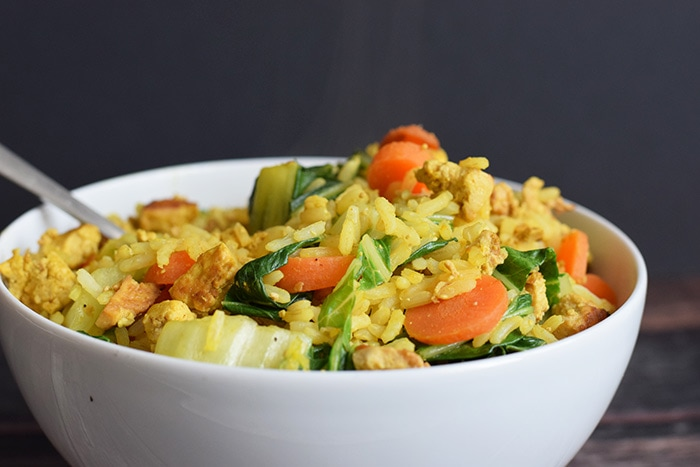 low FODMAP tofu fried rice - karlijnskitchen.com