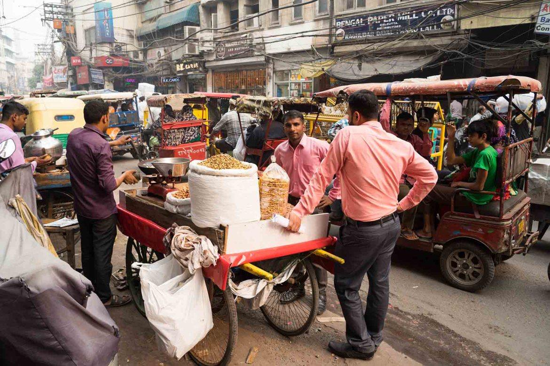 Old Delhi straatbeeld