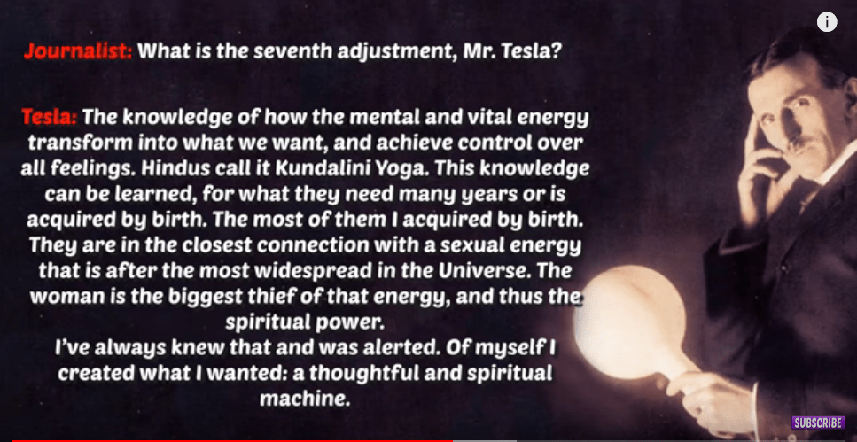 quotations from Tesla interview