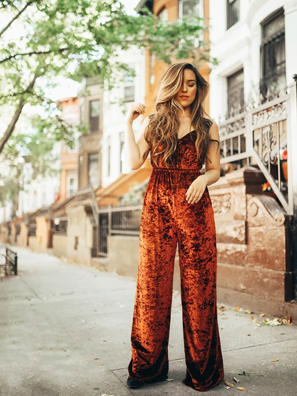 Velvet Jumpsuit in Brooklyn