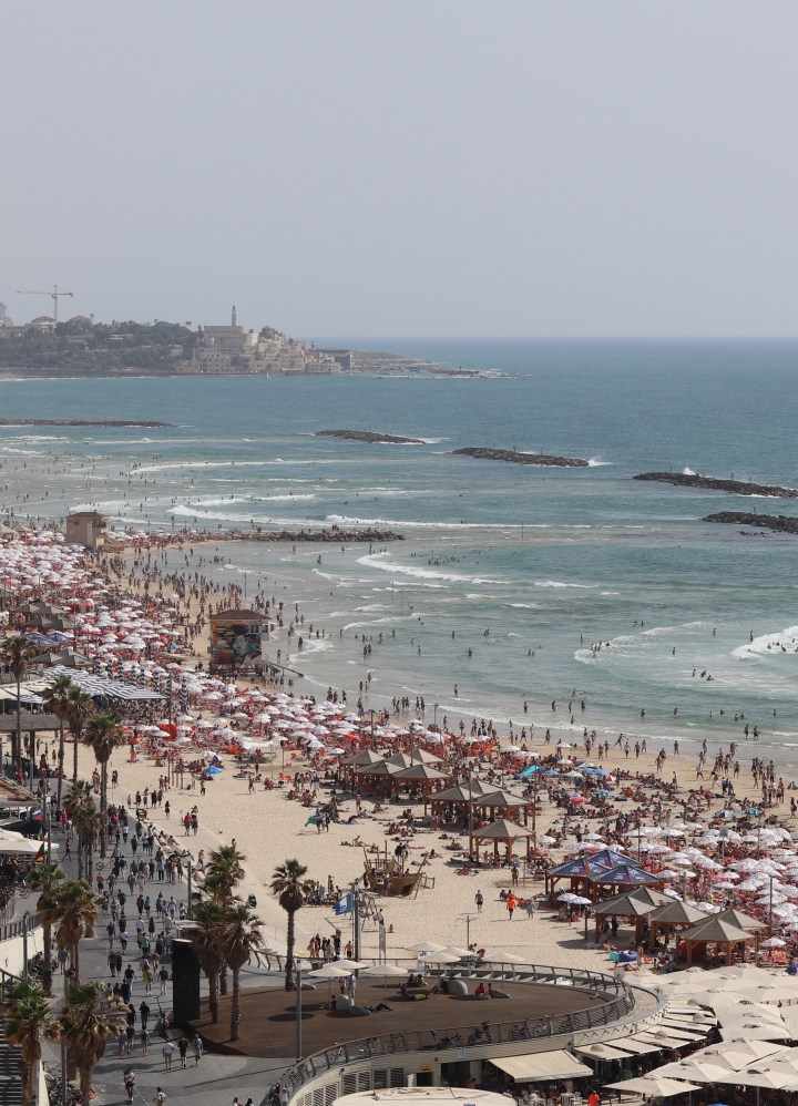 A view of Tel Aviv's beaches from Herods Hotel
