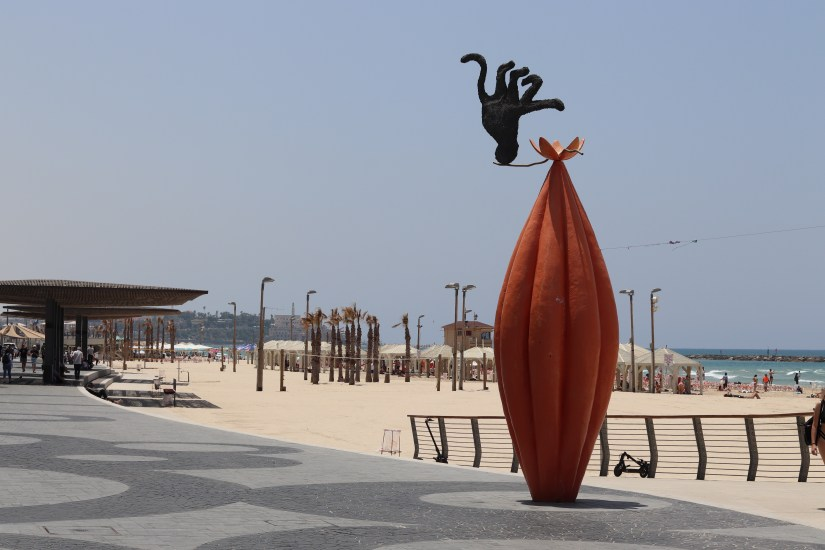 Modern art at Trumpeldor beach