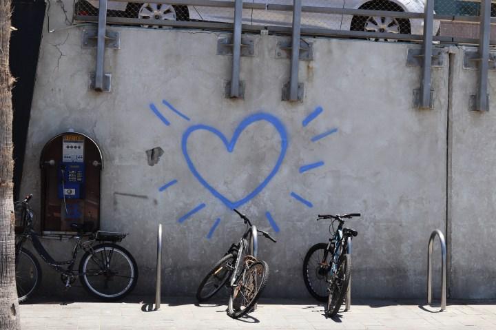 graffiti by the beach in Tel Aviv
