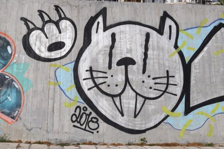Cat Graffiti near the Tel Aviv Marina