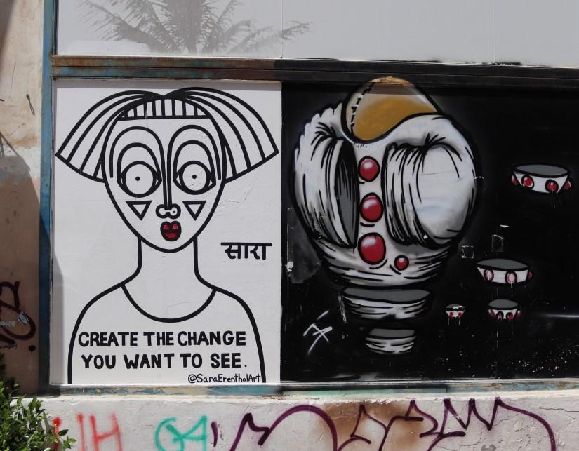 graffiti in the yemeite quarter