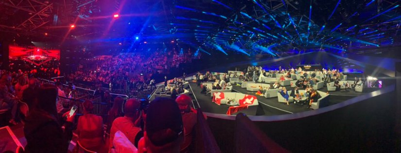 A view of the Eurovision Song Contest in 2019 from the Green Room