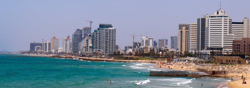 The beaches of Tel Aviv from Jaffa