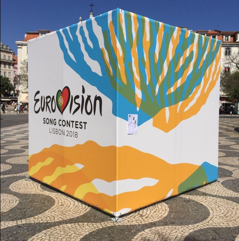 Eurovision Logos in Lisbon, Portugal