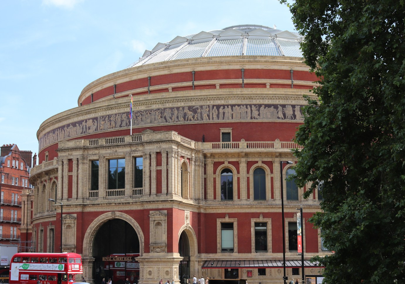 The Royal Albert Hall Main entrance from Kensington Gardens