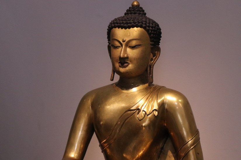 A Buddha statue inside the V&A London