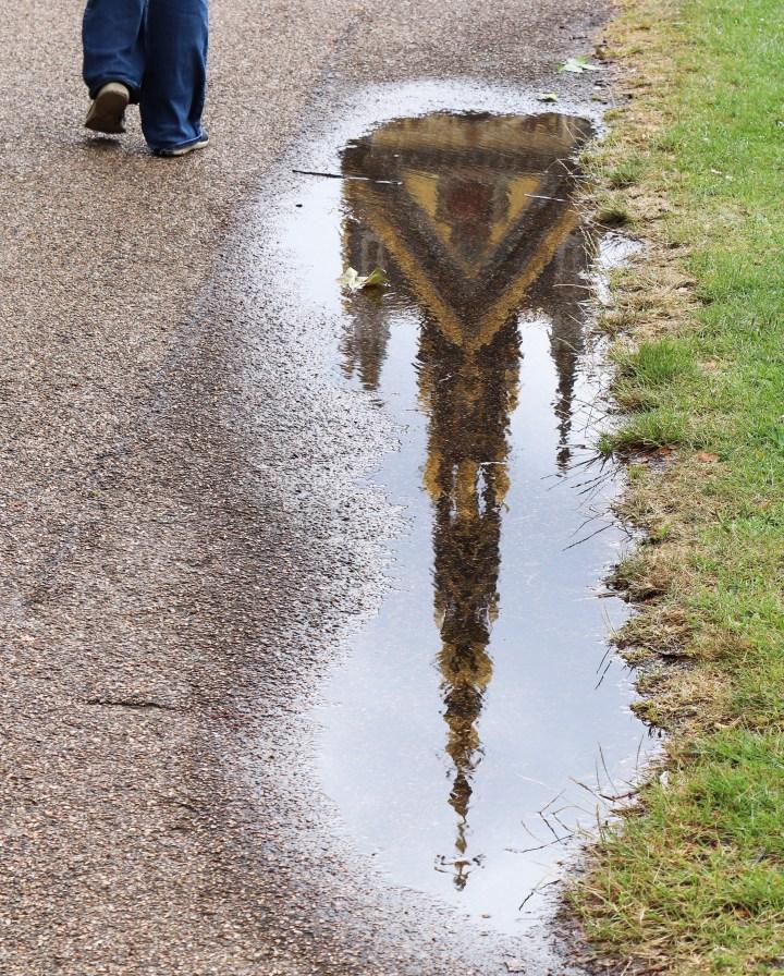 A reflection of the Prince Albert Memorial in Kensington Gardens