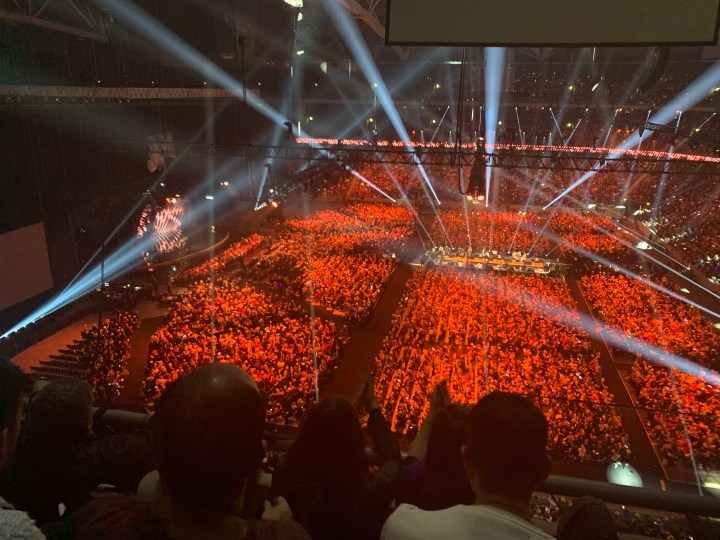 Inside the Friends Arena, Stockholm at the Melodifestivalen final in 2019