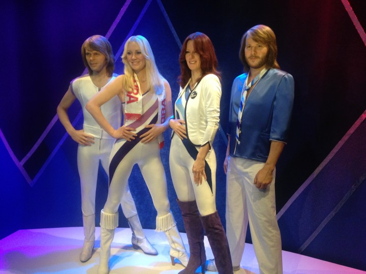 Wax work of ABBA at the ABBA Museum