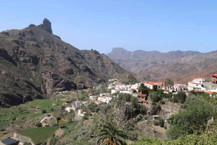 A view into the valley from the mountain village of Tejeda, Gran Canaria