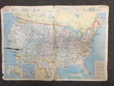 The US atlas I used to plan the first ever JOH route in 1988. San Diego, CA to Washington DC.