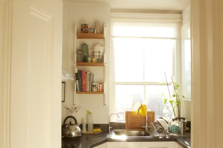 Chelsea kitchen with Peggy shelving