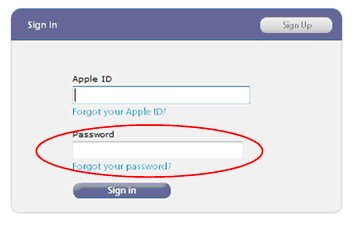 Apple, password problems