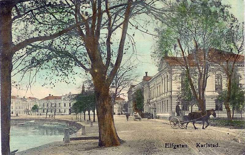 Häst och vagn på Älvgatan år 1908