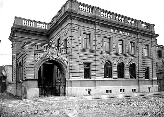 Riksbankshuset i Karlstad i sitt originalutseende från 1897