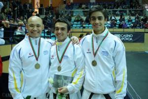 Phuong, Sebastian och Sam tog bronsmedalj i lagkata