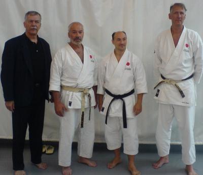 Ted Hedlund, Björn Grünstein, Miroslav Unic och Leslie Jensen.