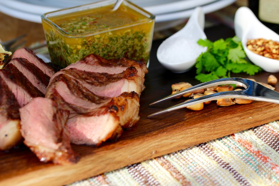 Grillad picanha med chimichurri
